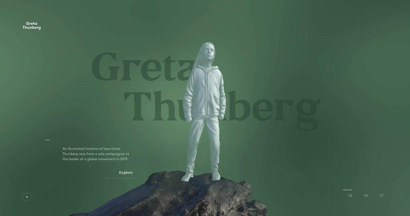 Great Thunberg - futuristic website
