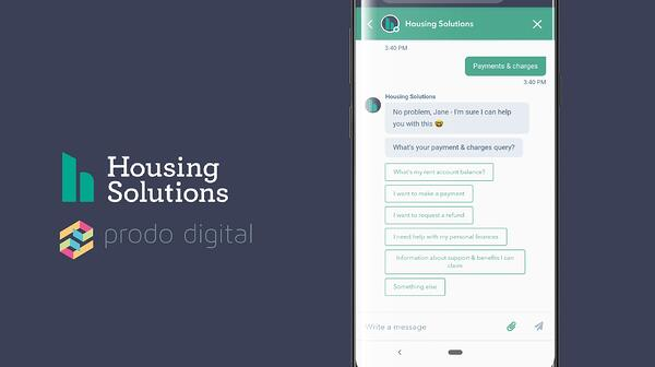 Prodo builds a chatbot for Housing Solutions