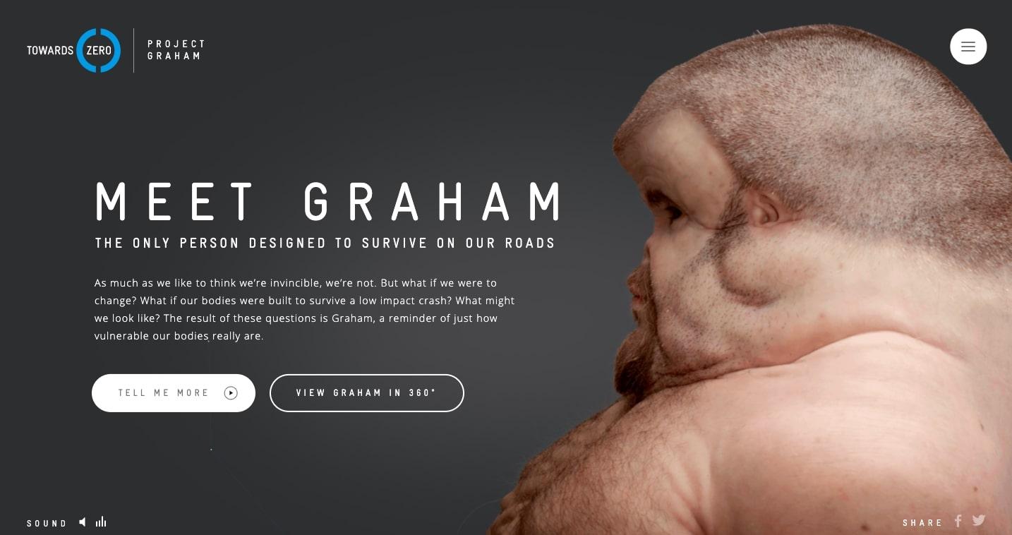 Meet Graham - Futuristic Website