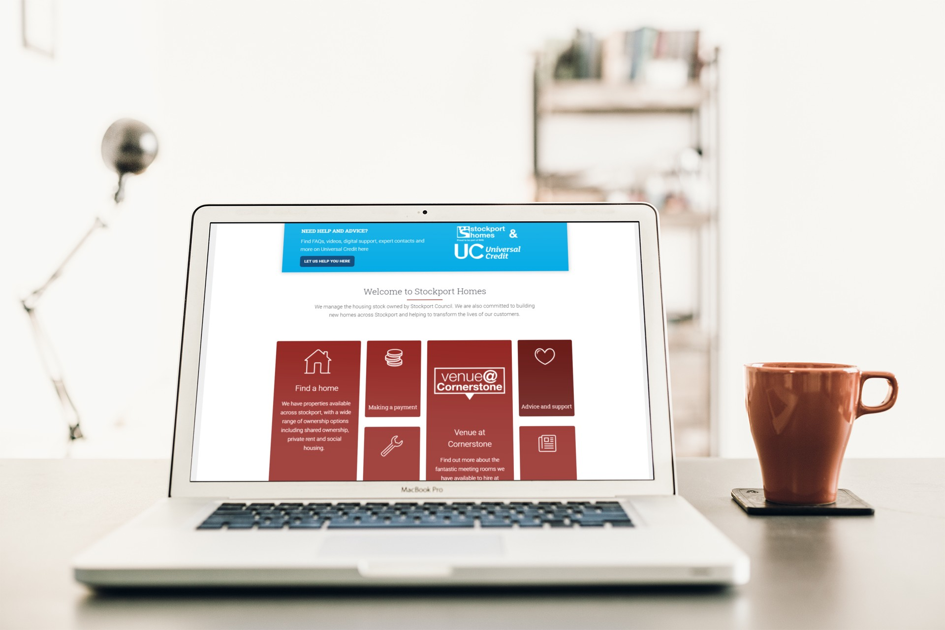 Stockport Homes Website